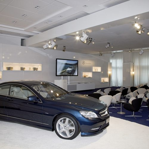 MERCEDES-BENZ (CL 63 AGMG: CL CLASS FACELIFT/CL AMG & S CLASS) - Press Presentation Cannes 2010<br><p>MERCEDES-BENZ entrusted NOVAE with the implementation of the logistics on the many sites involved in the marketing event.</p>