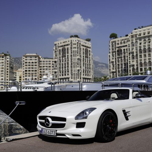 MERCEDES-BENZ (SLS AMG ROADSTER) - Press Presentation Monaco 2011<br><p>MERCEDES-BENZ entrusted NOVAE with the implementation of the logistics on the many sites involved in the marketing event.</p>
